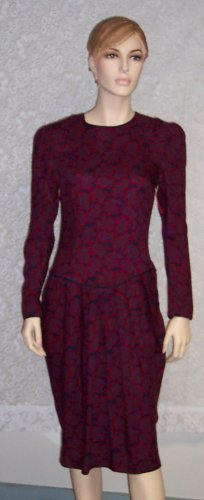 Vintage Talbots ~ Boho ~ Romantic Wiggle Secretary Dress 6  101-2hdress Albert Nipon Executive Dress