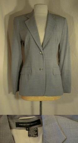 French Connection Gray Pant Suit Size 6 Once Is Never Enough