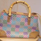 NWT Relic Pastel Purse with Bamboo Handles Floral Print location84