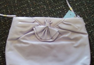 Vintage Clutch Purse Handbag Lilac Classic 60s 70s locationa1