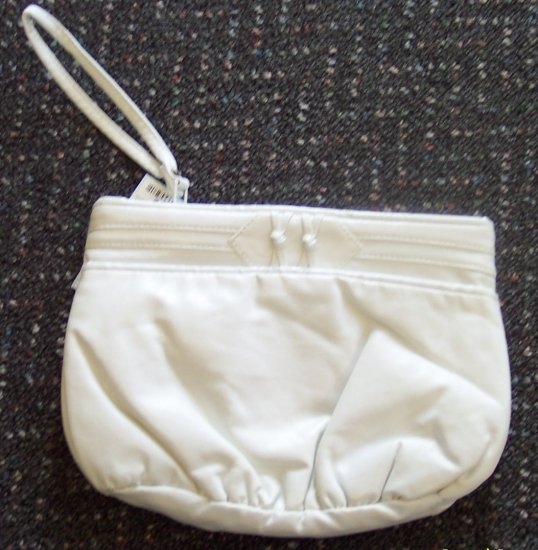 Vintage Purse Clutch Handbag White with Wrist Strap locationa1