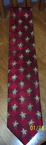 Ermenegildo Zegna Men's Mens Necktie Neck Tie ~ Burgundy Red Print