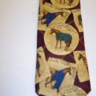 Lands End Men's Mens Necktie Neck Tie Ties Horse Western Print 101-22htie location98