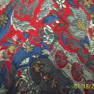 Vintage Christian Dior Men's Mens Necktie Red Blue Green Paisley Fauna Flora 101-1htie location98