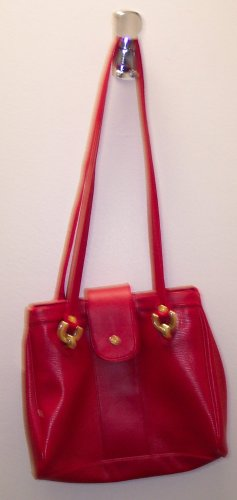 Vintage Red Samsonite Handbag Purse 118-189 Once Is Never Enough