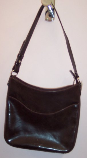 Dockers Dark Brown Purse Handbag Distressed 101-27 Vintage Purses location131