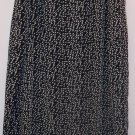 Dress Barn Long Skirt Black Beige Oval Print Size 16 101-1281 Once Is Never Enough