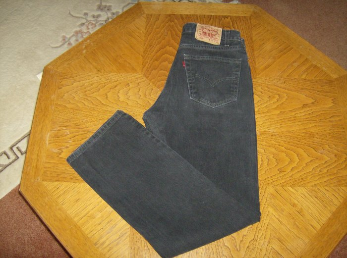 Mens Levi Strauss Levis Black 505 Red Tab Jeans 34 x 34 101-h07h location89