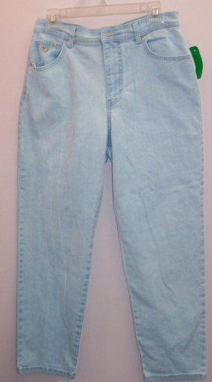 Gloria Vanderbilt Light Blue Denim Jeans Size 12P 176-544 Once Is Never Enough