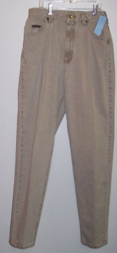 Lee Riveted Khaki Denim Jeans Size 12 Long Tall 473-19 Once Is Never Enough