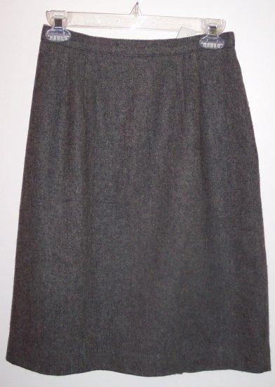 Vintage Briggs Petite Pencil Career Wool Skirt Size 8P 101-1094 locw21