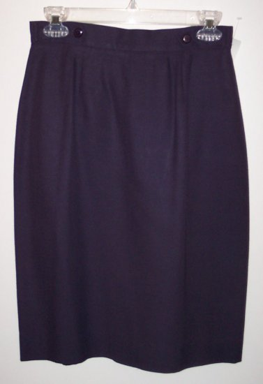 JH Collectibles Purple Pencil Career Skirt  Size 8P 101-1620  Locw21
