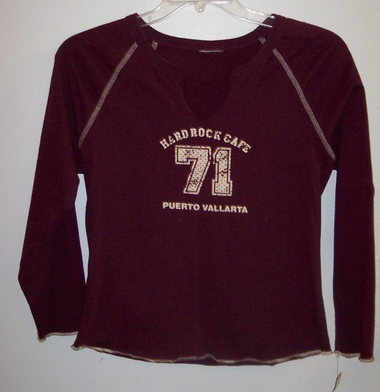 HARD ROCK CAFE Long Sleeve Layering T Shirt Top Size M  to L 101-15shirt locationw10