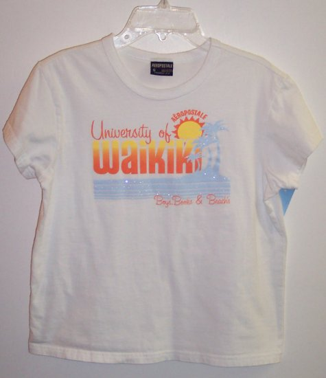 Aeropostale T Shirt Top Size S University of Waikiki 101-13shirt locationw10