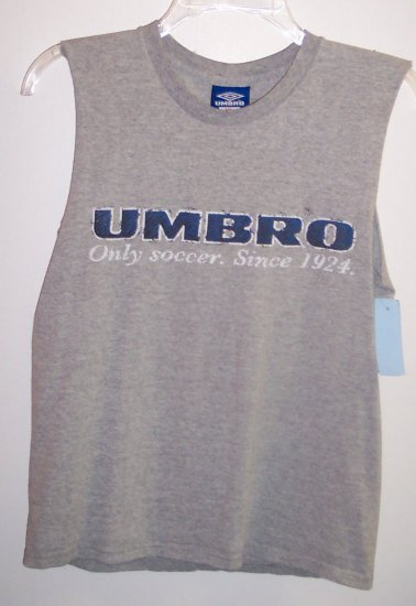 Boys Umbro YL Gray Tank Soccer Shirt Size Youth L location11