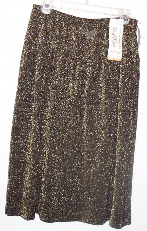 NWT Vintage Easy Wear by Bonne Petite Full Knit Skirt ~ Size 14P 337-26 Once Is Never Enough