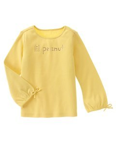 Gymboree NWT Lil Peanut Rhinestone Fun LS Tee Size 5 Yellow Box8