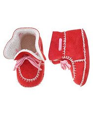 Gymboree NIP Tiny Hearts Red Booties Crib Shoe Size 02 box9