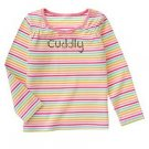 Gymboree NWT Imaginary Friends Striped Cuddly Ls Tee Shirt Sz 4
