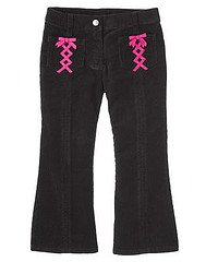 Gymboree NWT Imaginary Friends Black Corduroy Pants with Ribbons Sz 4