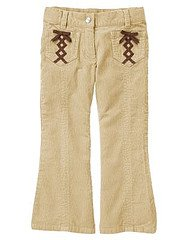 Gymboree NWT Imaginary Friends Beige Corduroy Ribbon Pants Size 6