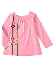 Gymboree NWT Imaginary Friends Floral embroidery LS Tee Shirt Size 4