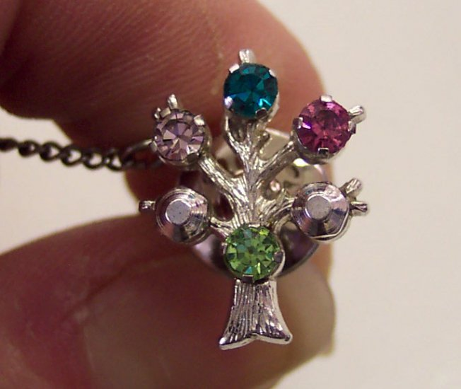 Vintage Anson Sterling Silver Tie Tac Tacs  Birthstone Tree Of Life 101-2346 Mens Jewelry