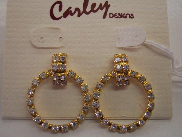 Carley Designs Gold Rhodium Vermeil Rhinestones Earrings 355-160