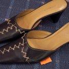 Danelle Black Slides Mules Size 6 1/2 M 101-22shoe location88