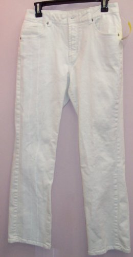Chico's Platinum White Denim Pants Jeans Size 1 686-73