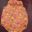 Okie Dokie OkieDokie Romper Onsie Orange Fruit Print Size 12 Months EUC location11