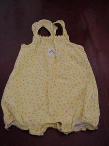 Precious Carter's Kids Yellow Floral Print Jumper Romper Size 12 Months Infant Clothing box11