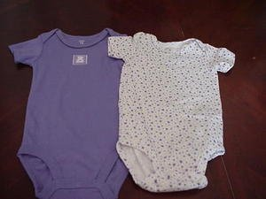 Lot of Two Carter's Onesies Lavender Purple Size 12 Months location11