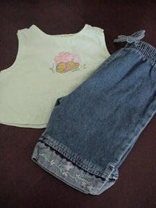 Pooh Infant Top & Oshkosh B'Gosh Girls Jeans Size 12 Months Box8