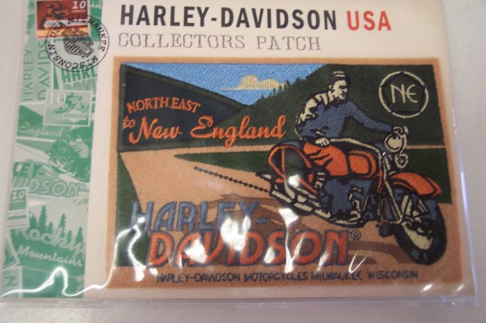 Harley Davidson North East To New England #2 Collectors Patch Patches 101-2665