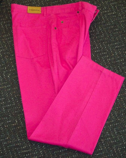 Evan Picone Pink Twill Pants Size 12 154-349h Once Is Never Enough