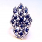 3 CT Natural Sapphire Vintage Style Ring Sterling 925 Size 8.5