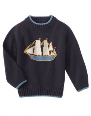 Gymboree NWT Old Town Harbor Sailboat Sweater Size 5 101-4110 Box8