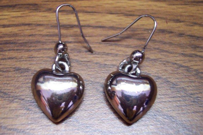 Chunky Vintage Pierced Costume Jewelry HEART EARRINGS 101-0012ear