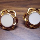 Vintage Pierced Goldtone Enamel Earrings 101-3780 Costume Jewelry
