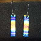 Vintage Funky Irridescent Pierced Earrings 101-0010ear Costume Jewelry Altered Art