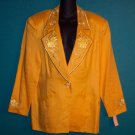 To To N Ko ToToNKo Vintage Sporty Yellow Jacket Blazer Size 14 16 101-12hjacket