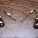 Goldtone Pierced Earrings 101-3799 Vintage Costume Jewelry