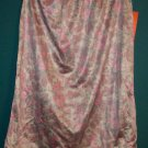 Vintage Pink Green & Beige Floral Paisley Half Slip Style 726 Size Small S 101-17b locationw11