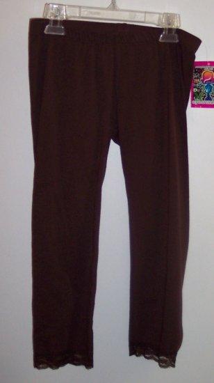 Eyeshadow Girls Size L 14 Brown Leggings NWT Pants