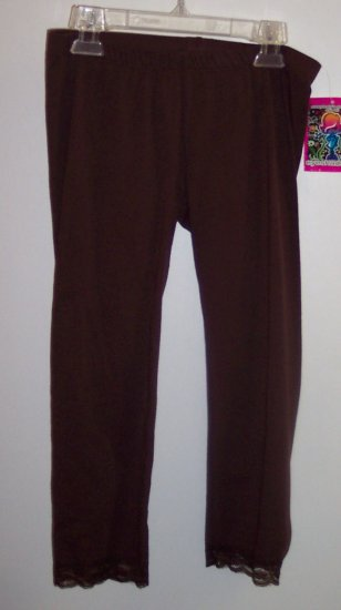 Eyeshadow Girls Size M 10 12 Brown Leggings NWT Pants