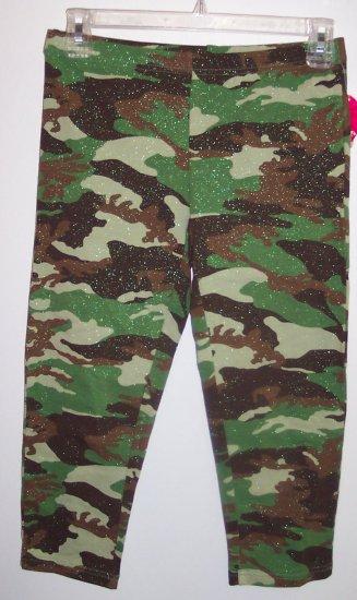 NWT Energie Girls Camoflage Camo Leggings Pants Size XL 16