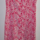 Vintage Expressions Pink Romantic Floral Jumper Dress ~ Size 12 ~ 101-4219h