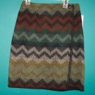Vintage Paul Harris Wrap Skirt  Olive Southwest Print Size 6 ws-12 location9