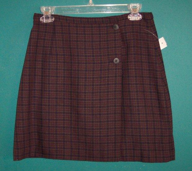 Vintage B Moss Wrap Mini Skirt ~ Size 8 ~ 101-972